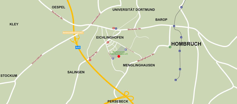 Standort Karte Gartenverein Fritz Husemann e.V