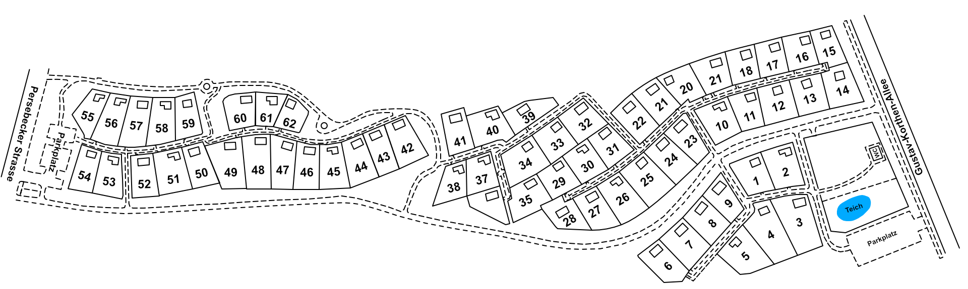 Lageplan des Gartenvereins Fritz Husemann e.V.
